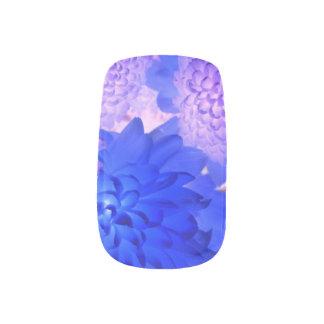 Purple Floral Nails Minx Nail Art