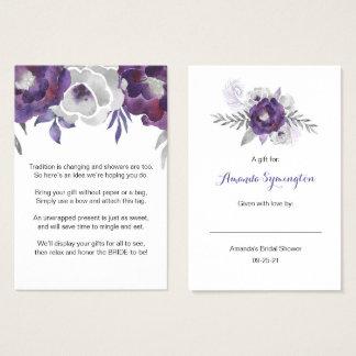 Purple Floral No Wrap Shower request tag 3963