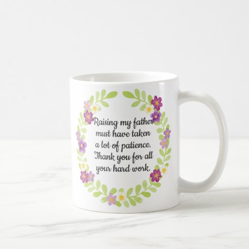 Purple Floral Patient Grandmother Mother's Day Coffee Mug