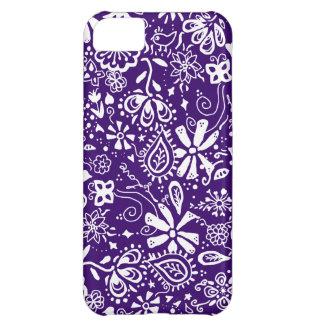 Purple Floral pattern Doodle iPhone 5C Case