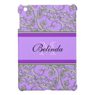 Purple floral pattern iPad mini cover