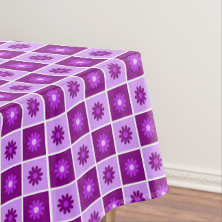 Purple Floral Pattern Tablecloth