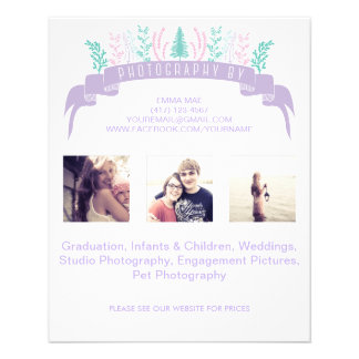Purple Floral Photography Flyer