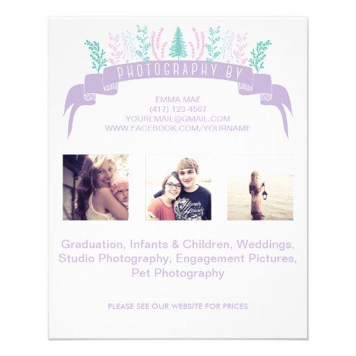 Purple Floral Photography Flyer
