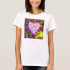 PURPLE FLORAL ROMANS 8:28 PHOTO DESIGN T-Shirt