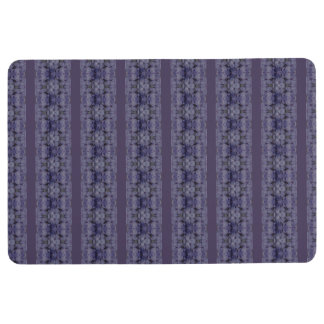 purple floral stripes floor mat