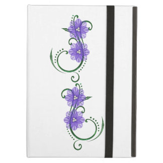 "Purple ""Floral Swirls""  iPad Hard Cover iPad Air Cover"