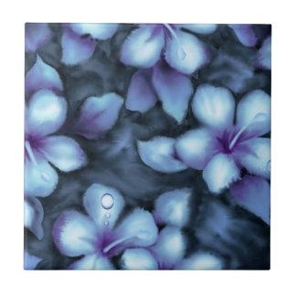 Purple Floral Ceramic Tile