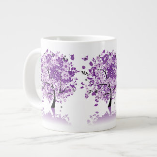 Purple Floral Tree Jumbo Mug