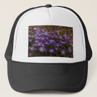 Purple Floral Trucker Hat