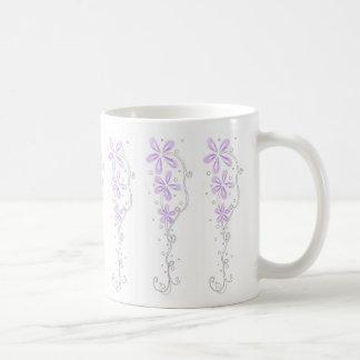 Purple Floral Vines Mug