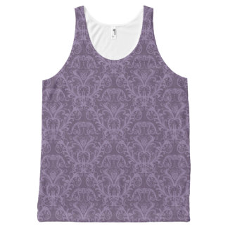 Purple floral wallpaper 2 All-Over print tank top