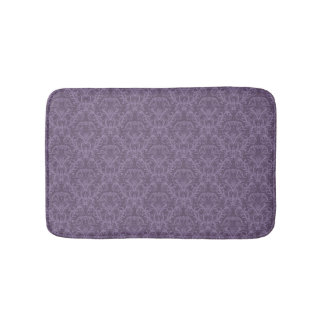 Purple floral wallpaper 2 bath mat