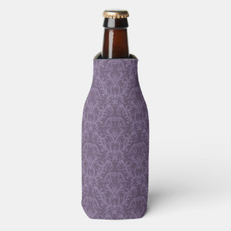 Purple floral wallpaper 2 bottle cooler