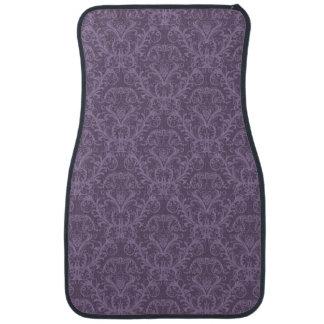 Purple floral wallpaper 2 car mat