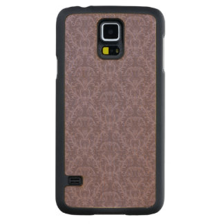 Purple floral wallpaper 2 carved maple galaxy s5 case
