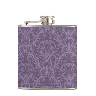 Purple floral wallpaper 2 flask