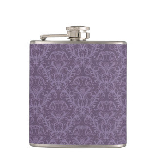 Purple floral wallpaper 2 flasks