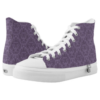 Purple floral wallpaper 2 high tops