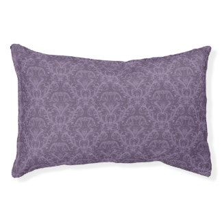 Purple floral wallpaper 2 pet bed