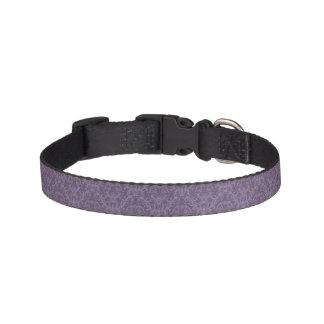 Purple floral wallpaper 2 pet collar