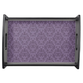 Purple floral wallpaper 2 serving tray