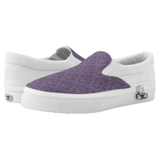 Purple floral wallpaper 2 Slip-On shoes