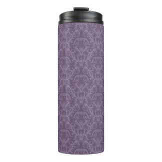 Purple floral wallpaper 2 thermal tumbler