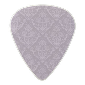 Purple floral wallpaper acetal guitar pick