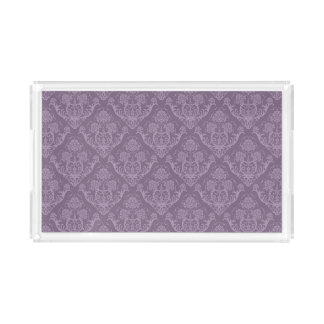 Purple floral wallpaper acrylic tray