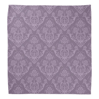 Purple floral wallpaper bandana