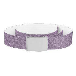 Purple floral wallpaper belt