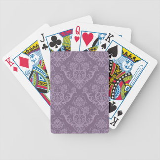 Purple floral wallpaper bicycle playing cards