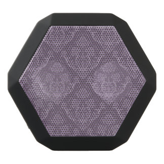 Purple floral wallpaper black bluetooth speaker