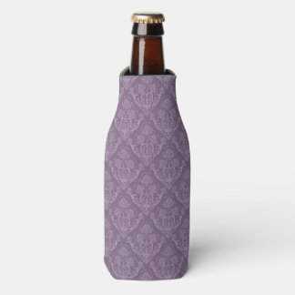 Purple floral wallpaper bottle cooler