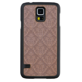 Purple floral wallpaper carved maple galaxy s5 case