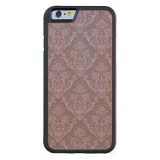 Purple floral wallpaper carved maple iPhone 6 bumper case