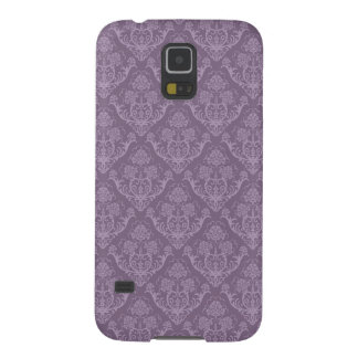 Purple floral wallpaper cases for galaxy s5