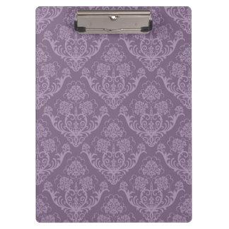 Purple floral wallpaper clipboard
