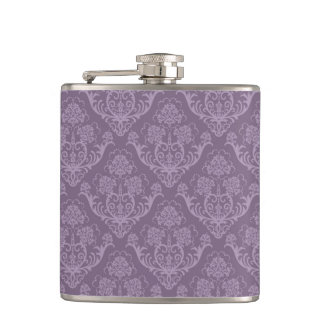 Purple floral wallpaper flasks