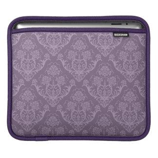 Purple floral wallpaper iPad sleeve