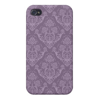 Purple floral wallpaper iPhone 4/4S cover