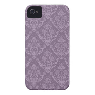 Purple floral wallpaper iPhone 4 case