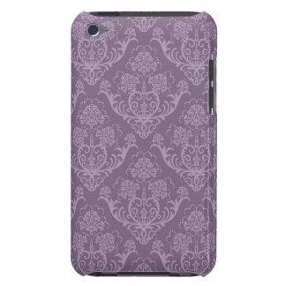 Purple floral wallpaper iPod touch case