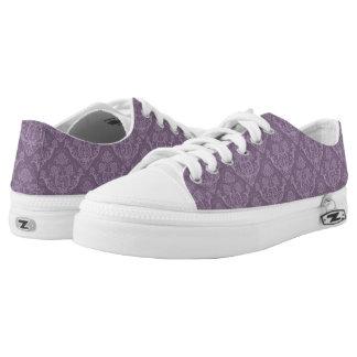 Purple floral wallpaper low tops