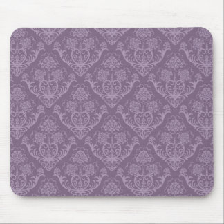 Purple floral wallpaper mouse mat