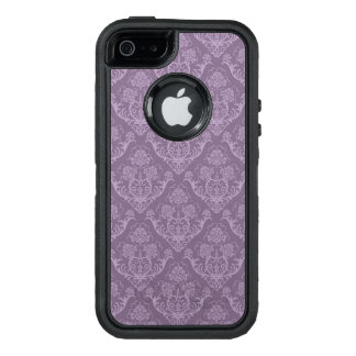 Purple floral wallpaper OtterBox defender iPhone case