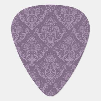 Purple floral wallpaper plectrum