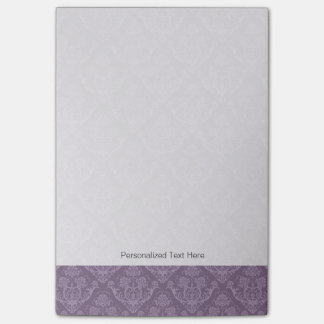 Purple floral wallpaper post-it notes