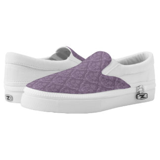 Purple floral wallpaper Slip-On shoes